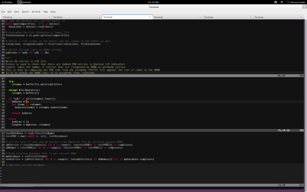 Edit multiple files in Vim. Can get a little crazy but, hey, why not?