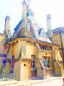 Abbot's Kitchen, Oxford, Watercolor, Detailed, 512x683